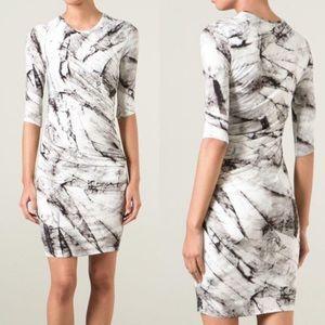 HELMUT LANG Marble Print Dress